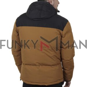 Winter Puffer Jacket ICE TECH G828 Mustard