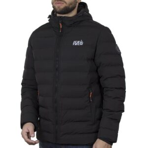 Winter Puffer Jacket ICE TECH G837 Μαύρο
