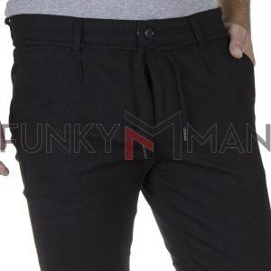 Cropped Chinos Παντελόνι SENIOR CRO-001-05 Μαύρο