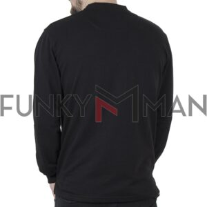 Μακρυμάνικη Μπλούζα CARAG-66-244-21 Μαύρο