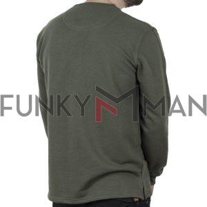 Μακρυμάνικη Μπλούζα CARAG-66-244-21 Χακί