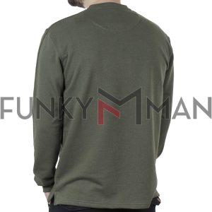 Μακρυμάνικη Μπλούζα CARAG-66-288-21 Χακί