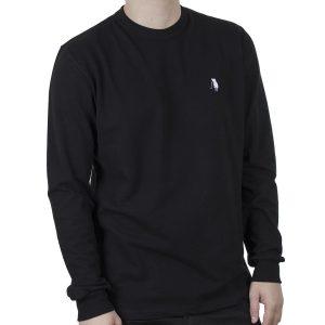 Μακρυμάνικη Μπλούζα Pique CARAG-99-211-21N Μαύρο