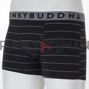 Μπόξερ FUNKY BUDDHA FBM002-095-10 Σετ 3 τεμ. Μαύρο & Μπλε