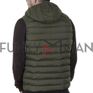 Μπουφάν Γιλέκο Vest Garage55 GAM002-001-01 Χακί