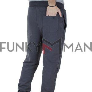Φόρμα Παντελόνι με Λάστιχα Garage55 GAM002-212-02 Μπλε Ink