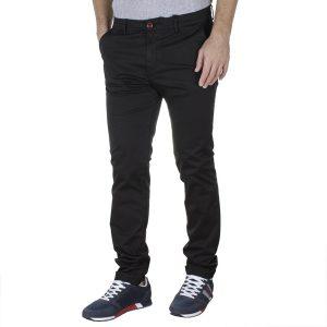 Βαμβακερό Παντελόνι Chinos SCINN Taylor Μαύρο