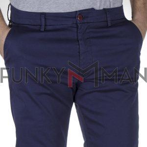 Βαμβακερό Παντελόνι Chinos SCINN Taylor Indigo