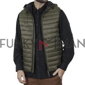 Μπουφάν Γιλέκο Vest Jacket BLEND 20709647 Χακί