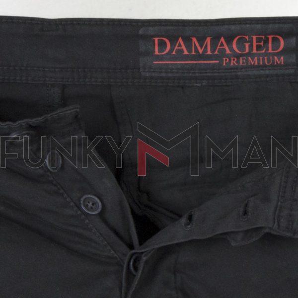 Cargo Slim Fit με Λάστιχα DAMAGED US22F Ανθρακί