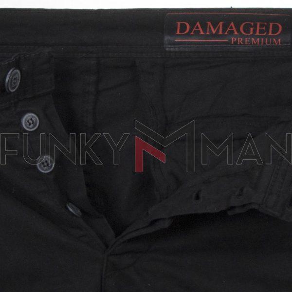 Cargo Slim Fit με Λάστιχα DAMAGED US22F Μαύρο