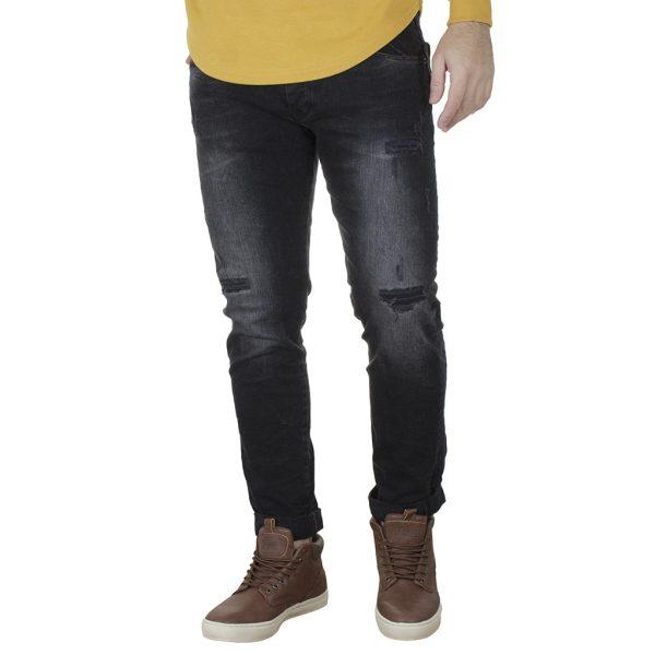 Τζιν Slim Fit Παντελόνι DAMAGED US34J Μαύρο
