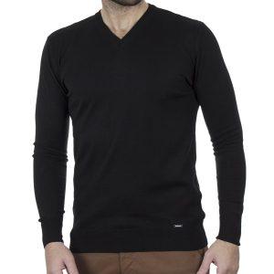 Πλεκτή Μπλούζα V Neck Knitwear ENDESON 120 Μαύρο