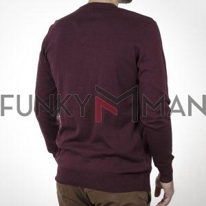 Πλεκτή Μπλούζα V Neck Knitwear ENDESON 120 Μπορντό