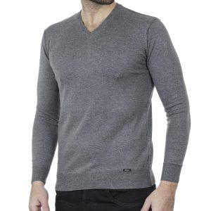 Πλεκτή Μπλούζα V Neck Knitwear ENDESON 120 Γκρι