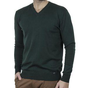 Πλεκτή Μπλούζα V Neck Knitwear ENDESON 120 Pesto