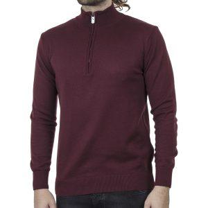 Πλεκτό Slim Fit Henley Knitwear ENDESON 140 Μπορντό
