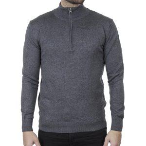 Πλεκτό Slim Fit Henley Knitwear ENDESON 140 σκούρο Γκρι