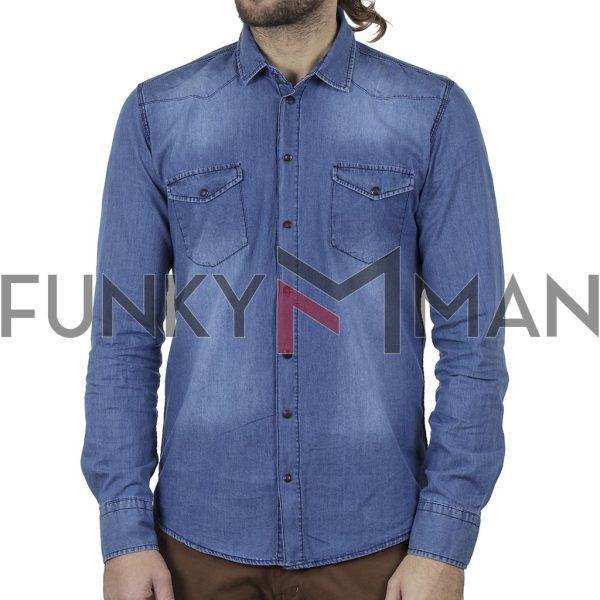 Τζιν Πουκάμισο Slim Fit ENDESON 1950-100 Μπλε