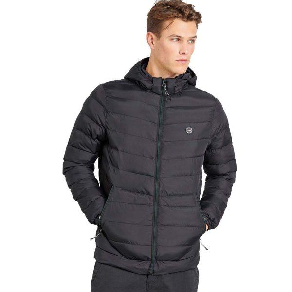 Puffer Jacket FUNKY BUDDHA FBM002-002-01 Μαύρο