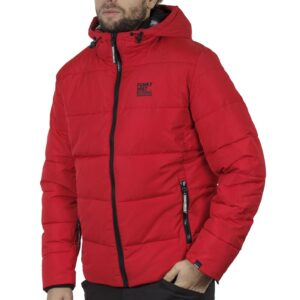 Winter Puffer Jacket FUNKY BUDDHA FBM002-006-01 Κόκκινο