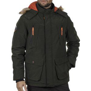 Winter Parka Jacket FUNKY BUDDHA FBM002-009-01 Olive