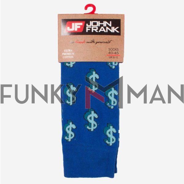 Κάλτσες John Frank Dollars JFLSFUN52 ONE SIZE 40-45