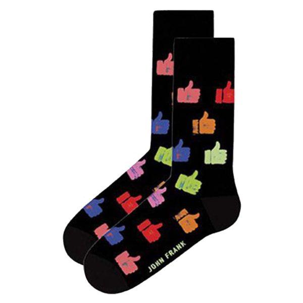 Κάλτσες John Frank Dollars JFLSFUN52 ONE SIZE 40-45 Μαύρο