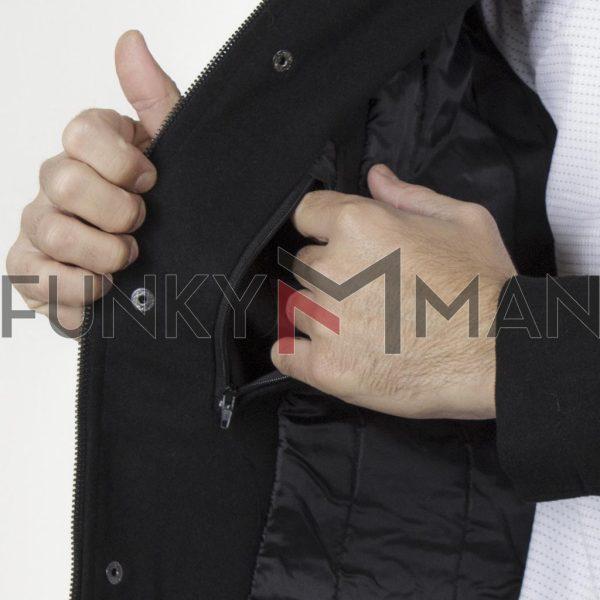 Παλτό SPLENDID 44-201-021 Μαύρο