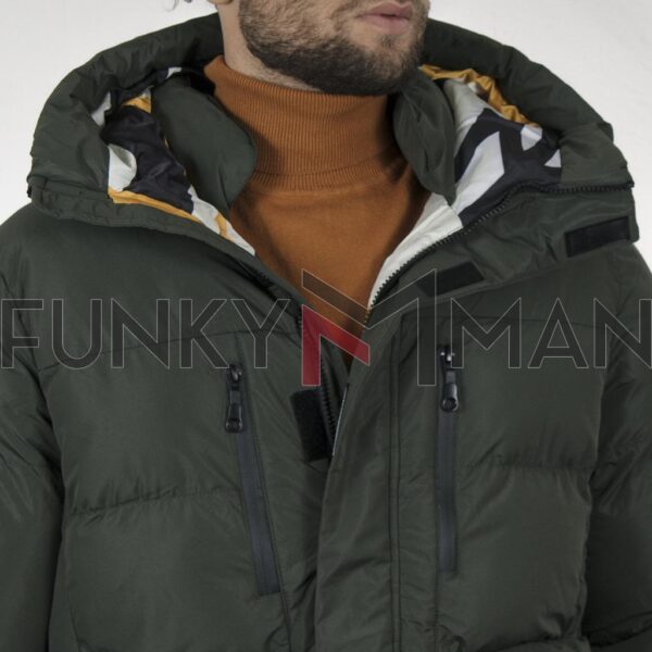 Winter Puffer Jacket SPLENDID 44-201-041 Χακί