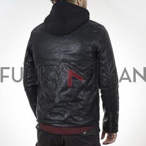 Jacket Δερματίνη SPLENDID 44-201-062 Μαύρο