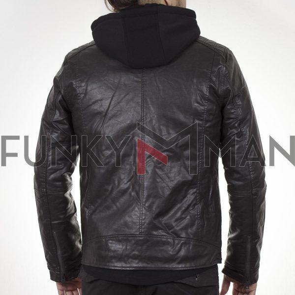 Jacket Δερματίνη SPLENDID 44-201-062 σκούρο Καφέ