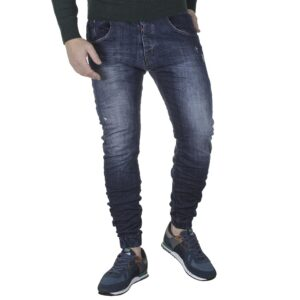 Jean Παντελόνι με Λάστιχα Back2jeans M6H Loose Slim Μπλε