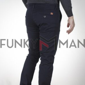 Chinos Παντελόνι Slim COVER CHILLY M0073 FW20 Blueblack