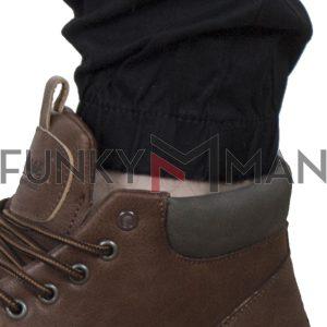 Cargo Παντελόνι με Λάστιχα COVER NEW ARMY M0190 FW20 Μαύρο