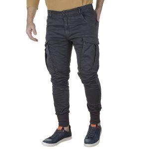 Cargo Παντελόνι με Λάστιχα DAMAGED US22 Slim Ανθρακί