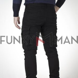 Cargo Παντελόνι με Λάστιχα DAMAGED US22 Slim Μαύρο