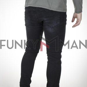 Τζιν Slim Παντελόνι DAMAGED US36A Μαύρο