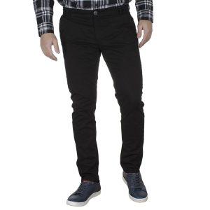 Casual Βαμβακερό Slim Παντελόνι DAMAGED US99 Μαύρο