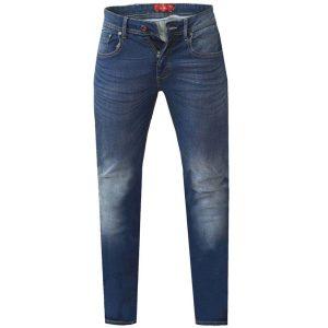 Jean Παντελόνι σε Μεγάλα Μεγέθη Regular Fit DUKE KS15495 AMBROSE Μπλε