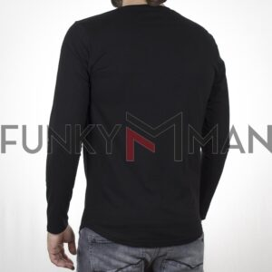 Μακρυμάνικη Μπλούζα Μακό FREE WAVE 22102 Μαύρο