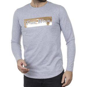 Μακρυμάνικη Μπλούζα Μακό FREE WAVE 22102 Γκρι