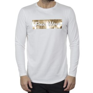 Μακρυμάνικη Μπλούζα Μακό FREE WAVE 22102 Λευκό