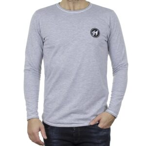 Μακρυμάνικη Μπλούζα Μακό FREE WAVE 22103 Γκρι