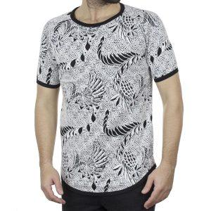 Κοντομάνικο Fashion T-Shirt FREE WAVE 22106 Floral Μαύρο