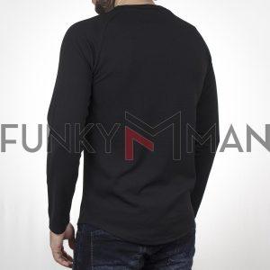 Μακρυμάνικη Μπλούζα FREE WAVE 22108 Μαύρο