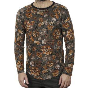Κοντομάνικο Fashion T-Shirt FREE WAVE 22110 Floral Καφέ