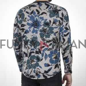 Κοντομάνικο Fashion T-Shirt FREE WAVE 22110 Floral Γκρι