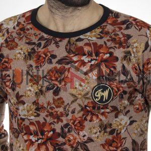 Κοντομάνικο Fashion T-Shirt FREE WAVE 22110 Floral Ροζ
