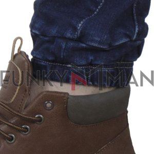 Τζιν Παντελόνι Slim με Λάστιχα SCINN Jeans LEON D FW20 Μπλε
